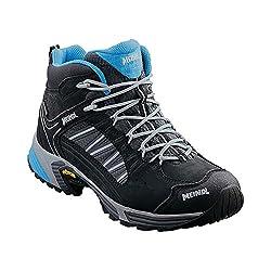 Meindl Damen Leichtwanderschuh SX 1.1 Lady GTX Mid Trekking- & Wanderstiefel, Schwarz/Azur 001, 40 EU