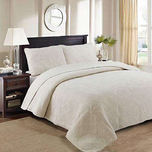 Mustbe strong Einfach auf Quilt-Betten mit Quilten 3 Piece Sets Cotton Embroidery Washed Quilt Air Conditioner Quilt Quilt,Beige,250 * 270CM
