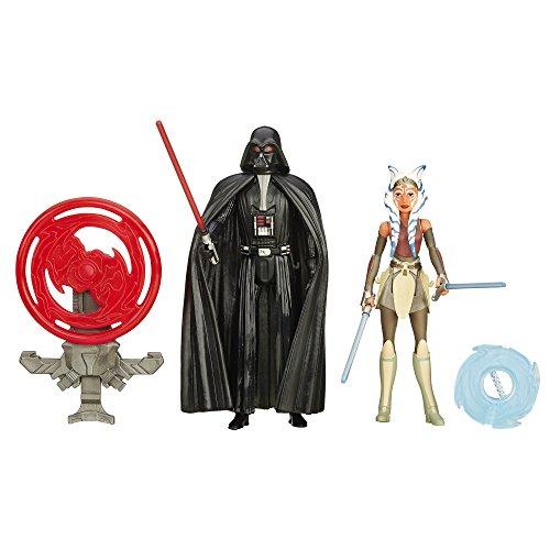 Star Wars Rebels Figur Space Mission Darth Vader und Ahsoka Tano, 9,5 cm, 2er-Pack