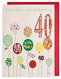 Geburtstagskarte zum 40. mit Glimmerlack Geburtstagskarte 40 mit Glimmerlack