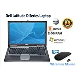 Newly Refurbished Cheap Dell D Series Latitude Laptop with 2GB Ram 80 GB Harddrive, Window 7 Pro Preloaded, Wi-Fi Enabled, Free Mouse