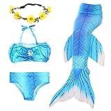 2017 Sommer neue Nixeendstück Badeanzug Mädchen 3 Chibang bequeme Materialien Bikini gesetzte freies Geschenk schöner Kranz