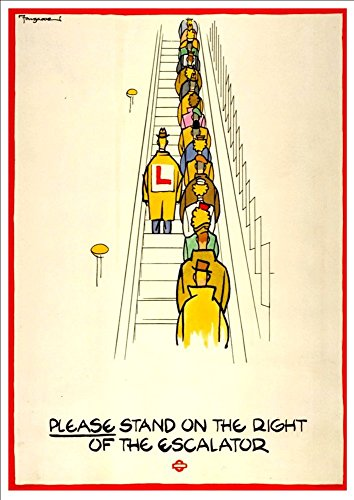 london-underground-escalator-1944-wonderful-a4-glossy-art-print-taken-from-a-rare-vintage-railway-po