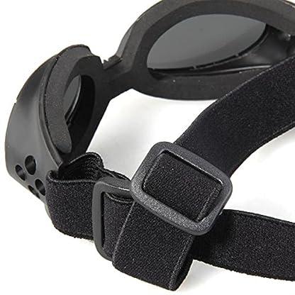 FACILLA® Black Framed Pet Puppy Dog UV Protection Doggles Goggles Sunglasses Eyewear 5