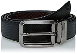 Peter England Mens Synthetic Belt (8907495894065_RL31791404_Medium_Black and Brown)