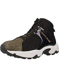 Versace Jeans talón de la zapatilla de deporte de oro negro abajo E0VOBSD2 75396 M27 Invierno 2016 nueva caída de 2017