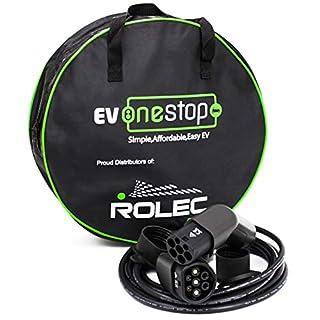 EV / Ladekabel für Elektrofahrzeuge | Typ 2 zu Typ 2 | 32 Ampere (7.2kW) | 5 Meter | Kostenlose Tragetasche | BMW, Tesla, Mercedes, Audi, Leaf 2018, Volkswagen |
