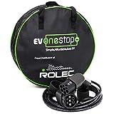 EV OneStop Simple, asequible, Fácil vehículo EV EV/Eléctrico - Cable de Carga Tipo 2 - Tipo 2 - 3 Fase 32 Amp (22 Kw) 10 Metros