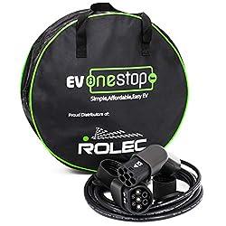 EV OneStop Simple, Affordable, Easy EV Ladekabel für Elektrofahrzeuge | Typ 2 bis Typ 2 | 32 Amp (7,2 kW) | 10 Meter | Kostenlose Tragetasche | BMW, MERC, Leaf 2018, Tesla |