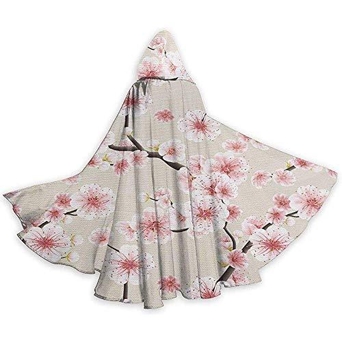 Mitta Yane Hooded Cape Kostüm voller Länge orientalische Inspiration von Kirschblüten Frühling (Kostüm Inspiration)
