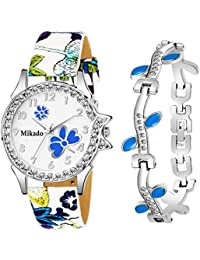 Mikado Evergreen Bracelet Style Combo Set for Girls Analog Watch - for Girls