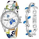 Mikado Evergreen Bracelet Style Combo Set for Girls Analog Watch - for Girls