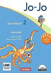 Jo-Jo Sprachbuch - Aktuelle allgemeine Ausgabe: 2. Schuljahr - Arbeitsheft in Lateinischer Ausgangsschrift: Mit CD-ROM