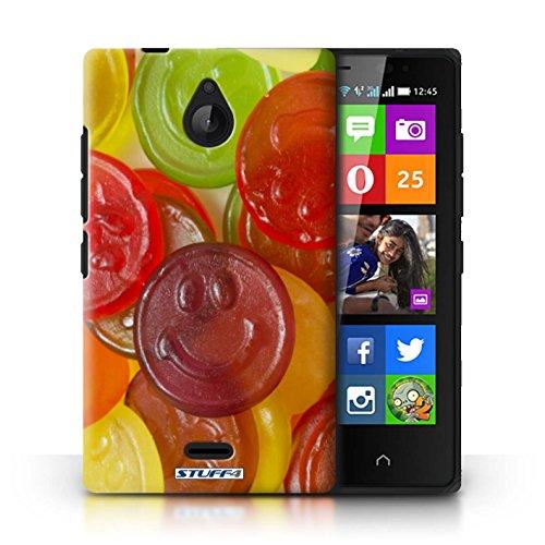 Kobalt® Imprimé Etui / Coque pour Nokia X2 Dual Sim / Skittles conception / Série Bonbons Jelly Faces