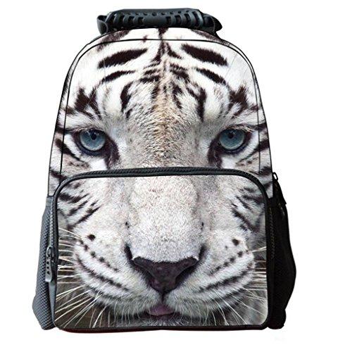 68e4919dc609 Leberna Felt Animal Face Cute School Backpack Book Bags for Boys and Girls  Tiger