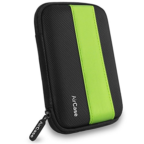 AirPlus AirCase Premium HDD Hard Disk Case Cover For External Hard Disk 2.5 Inch(Green:Black)