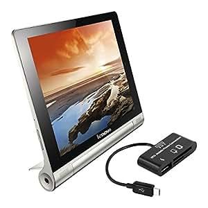 kwmobile 3in1 adaptateur Micro USB lecteur de carte USB-OTG pour Lenovo Yoga Tablet 8 noir