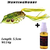 #4: Top Water, Floating Frog With High Rigged Stainless Hook