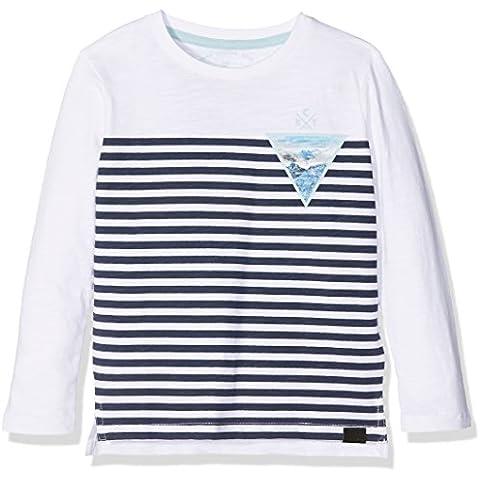 Tom Tailor Kids Tee with Print Stripe, Camiseta de Manga Larga para Niñas
