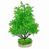 "Move&Moving(TM) 11.8"" Height Green Plastic Manmade Tree Onament for Aquarium"