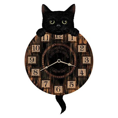 Dark Dreams Gothic Mittelalter LARP Pendeluhr Wanduhr Uhr Katze (Luna Kostüm Katze)