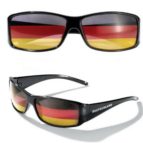 Fussball Fan EM Sonnenbrille Deutschlandflagge
