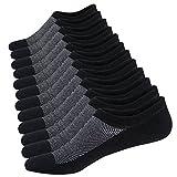 Homme Chaussettes Basses Respirantes Courtes Socquettes de Sport en Coton Confortable Basiques Chaussettes (Taille: 38-44, 6 Paires Noir)