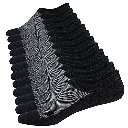 Ueither Calzini Fantasmini da Uomo Sneaker Calze Invisibili Cotone Calze Corti Traspirante Sportive con taglio basso Antiscivolo