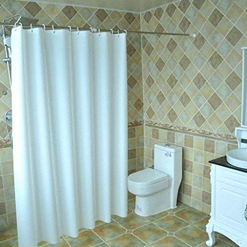 Erru Duschvorhang Pure White Warm Halten Dick und Wasserdicht Zum Test Derildewproof WC Badezimmer Rideau Wasserdicht der Partition (Größe: 150 cm * 180 cm).