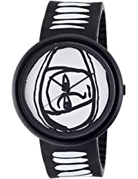 ODM JC04-01 - Reloj de pulsera para hombre, color blanco negro