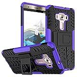Asus Zenfone 3 Deluxe ZS570KL 5.7 inch Hülle, CaseFirst Stoßfest Hybrid Combo Handytasche Anti-kratzer TPU + PC 2 in 1 Handyhülle Anti-Rutsch Schutzhülle Schutz Shockproof Case Cover (Lila)