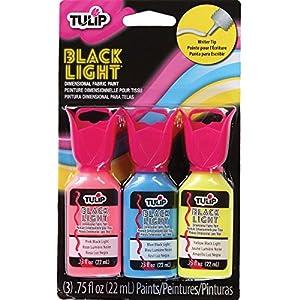Tulip 325123D Pintura de Tela, Color Negro