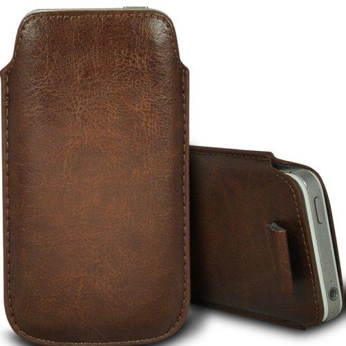 Brun/Brown - Xiaomi Mi 2A Housse deuxième peau et étui de protection en cuir PU de qualité supérieure à cordon avec stylet tactile par Gadget Giant® Brun/Brown