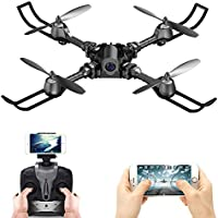 Price comparsion for FSTgo® RC Drone Foldable Remote Control FPV VR Wifi Quadcopter 2.4GHz 6-Axis Gyro 4CH Helicopter with Camera Aircraft Video Time Transmission RTF (Black)
