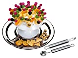 chg Set 286-17 Party-Pilz 34-tlg. Servierteller, Durchmesser 32 cm, mit Zugabe Garnierset