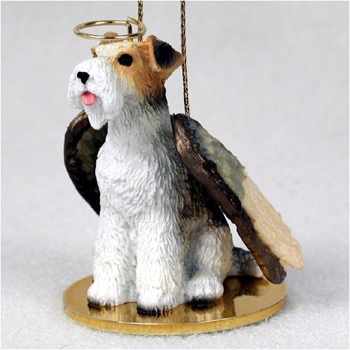 Wire Haired Fox Terrier Angel Dog Ornament by Conversation Concepts -