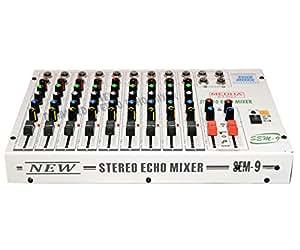 MEDHA D.J. PLUS Professional 9 Channel Stero Echo Mixer