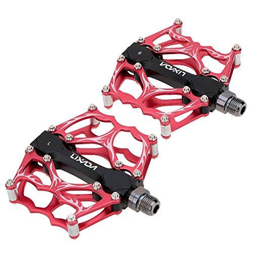 """Lixada 2PCS Aluminium Legierung Mountain Bike 3 Dichtungs-Plattform Pedale CNC gefräste 9/16"""""""