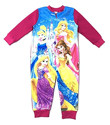 Kids Girls Fleece Character Onesie Pyjamas Pj's Size UK 1-8