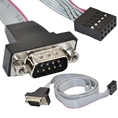 3Ft Serial DB9 9pin Stecker Panel Mount Auf 2x5 F 10Pin Header PCB Hauptplatine Kabel Hdmi-serielles Kabel