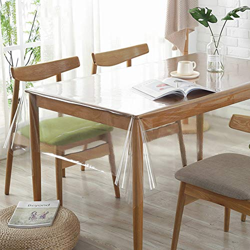 Tablecloth Roll, Ultradünne PVC Transparente Tischdeckenschutz Perfekt Schützen-0.25mm 150x150cm(59x59inch) ()