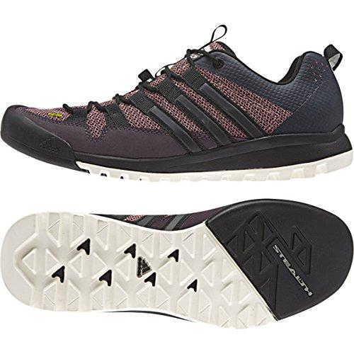 Adidas all'aperto Terrex Solo Approccio scarpe - Minerale rosso / nero / colore rosa prime 5 Mineral Red / Black / Raw Pink