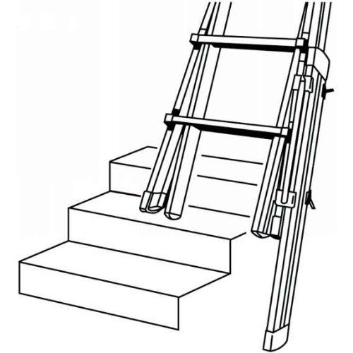 Preisvergleich Produktbild Hymer Fußverlängerung für Hymer Teleskopleitern 0050302