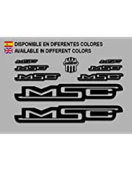 PEGATINAS MSC BIKE F136 STICKERS AUFKLEBER DECALS AUTOCOLLANTS ADESIVI (NEGRO)