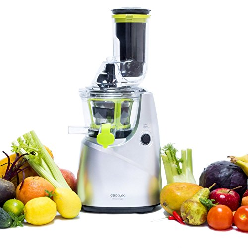 Slow Juicer for Fruit and vegetables, Cold Press Juice Extractor with an XL Mouth for Whole ...