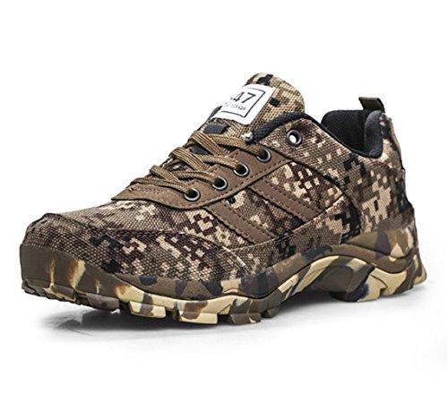 ZanYeing Herren Damen Freizeit Sneaker Outdoor Trekking Tarnung Camo Schuhe Sportschuhe 35-46