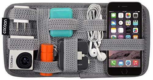 Band Organizer (Cocoon GRID-IT SMALL - Taschen Organizer mit elastischen Bändern / Praktischer Organizer für Aktentasche, Handtasche / Wand Organisationssystem mit Reißverschluss & Schlaufe / Grau - 26 x 1 x 13 cm)