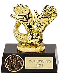 4.5Flexx trofeo de fútbol guantes de portero Oro con grabado hasta 30letras