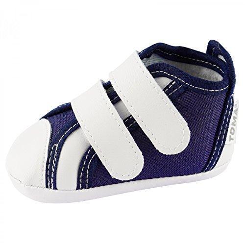 TOMA Babyschuhe Krabbelschuhe Sehr Schöne Baby Schuhe Jungen Mädchen BS1274 Marineblau