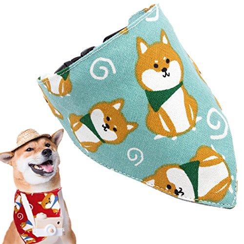 Legendog Pet Collar Cute Dog Printing Pet Pañuelo Bandana Perro Ajustable Collar con Campana